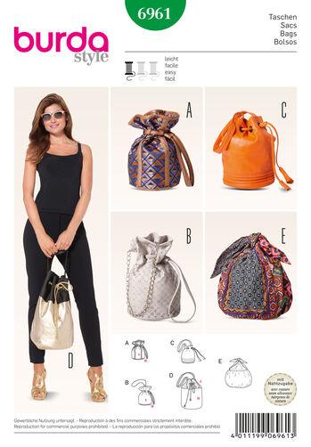 Burda Style Drawstring Bags
