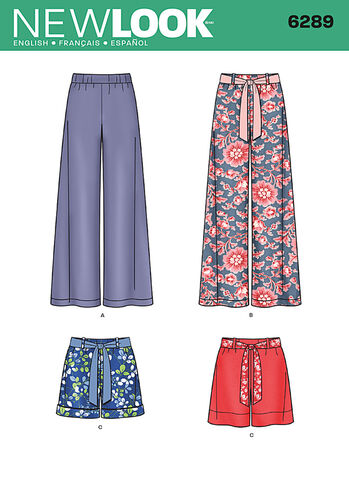 Misses' Pull-on Pants or Shorts and Tie Belt