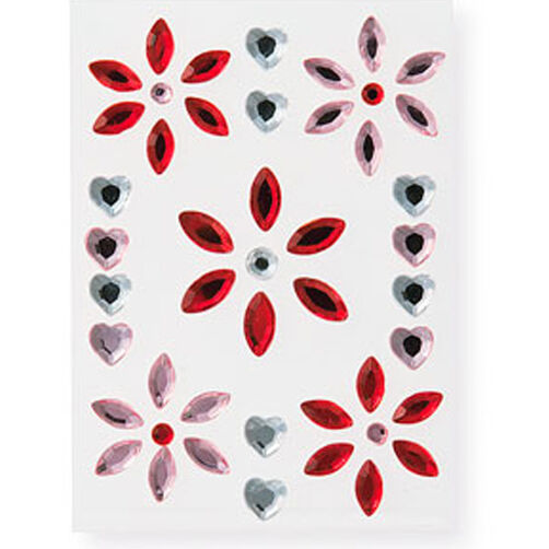 Gemstone Hearts Dimensional Stickers _M352011