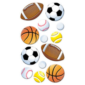 Sports Balls Puffy Stickers_SPP1PVC43