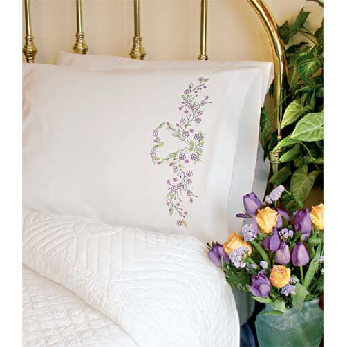 Ivy Heart Pillow Cases, Embroidery_73419