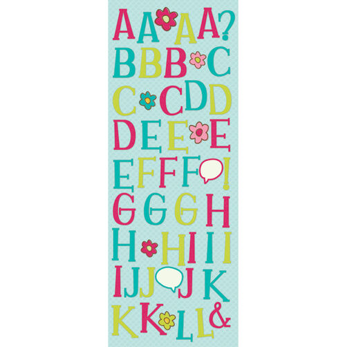 Isabella Grace Glitter Alphabet Stickers _30-611887
