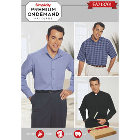 Simplicity Pattern EA718701 Premium Print on Demand Men's Shirts