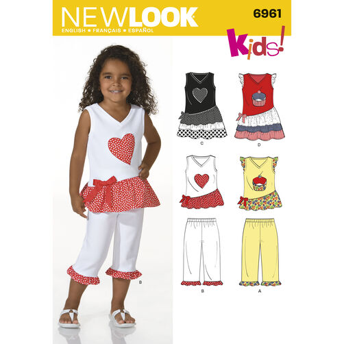 New Look Pattern 6961 Child Separates
