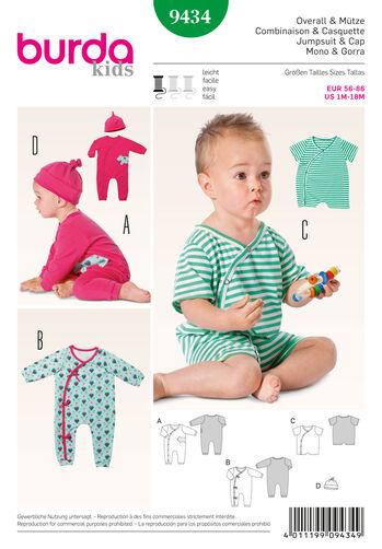 Burda Style Pattern 9434 Baby