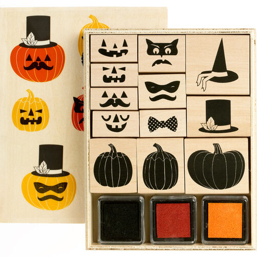Animal Masquerade Wooden Stamp Set_40-20010