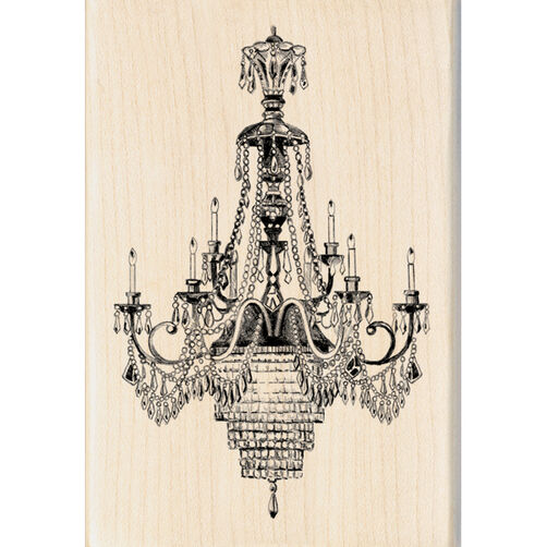 Ballroom Chandelier Wood Stamp_60-00879