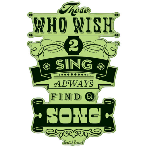 Wish to Sing Proverb Cling Stamp_60-60324