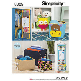 Simplicity Pattern 8309 Organizers