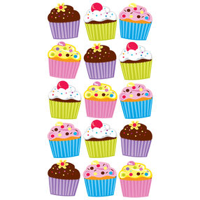 Bright Cupcakes  Vellum and Glitter Stickers_52-00114