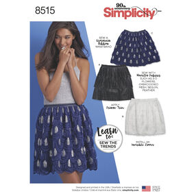 Simplicity Pattern 8515 Misses' Novelty Mini Skirts