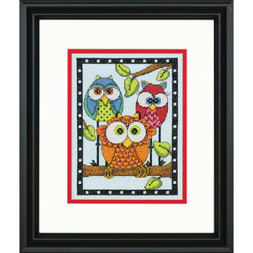 Owl Trio, Counted Cross Stitch_70-65159