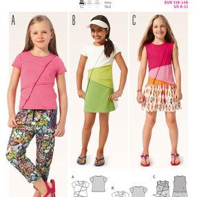 B9391 Children'sShirt and  Dress
