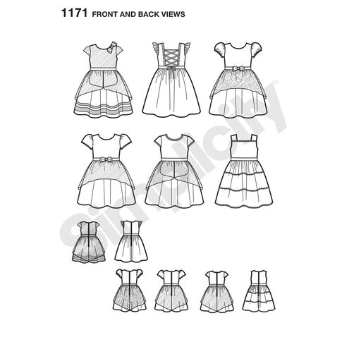 Pattern for Toddlers' and Child's Special Occasion Dresses