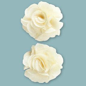 Cream Burlap Flower Embellishments_50-60338