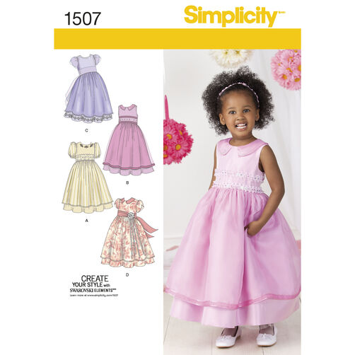 Simplicity Pattern 1507 Toddlers' and Child's Special Occasion Dress