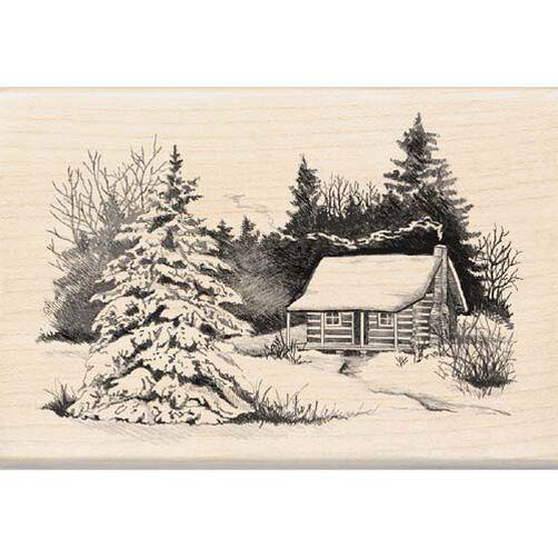 Snowy Cabin_99417