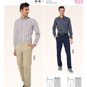 Burda Style Pattern 6873 Mens Wear, Sports Wear