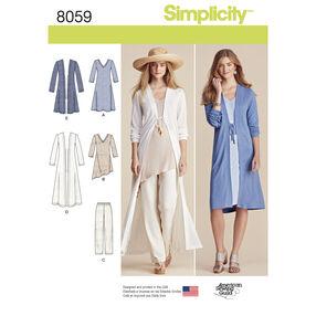 Simplicity Pattern 8059 Misses Separates Sized XXS to XXL