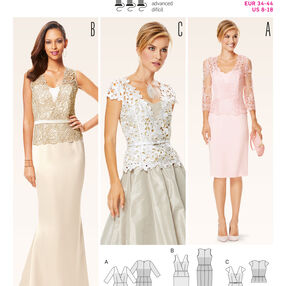 B6646 Misses' Dress, Top and  Skirt