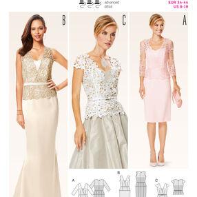 Burda Style Pattern 6646 Misses' Dress, Top and  Skirt
