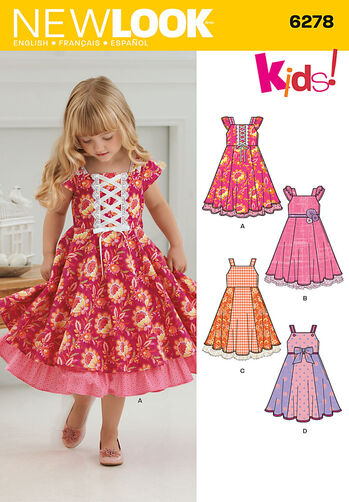 Child's Dress with Trim Variations