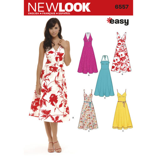New Look Pattern 6557 Misses' Dresses