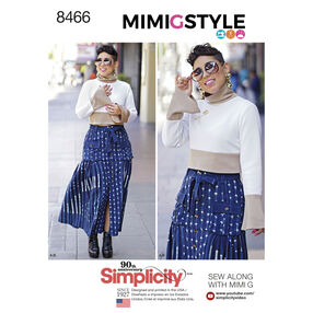 Simplicity Pattern 8466 Mimi G Misses' Skirt and Knit Top