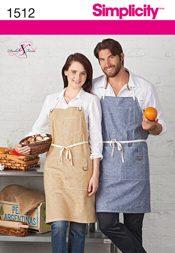 Misses' and Men's Apron with Pockets