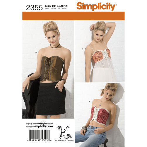 Simplicity Pattern 2355 Misses' Corsets