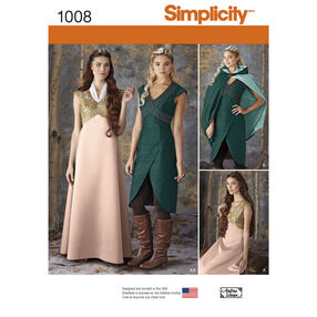 Simplicity Pattern 1008 Misses' Fantasy Costumes