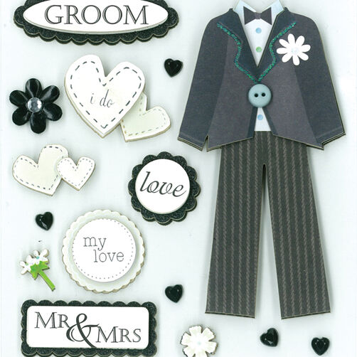 Handsome Groom Dimensional Sticker  _30-577398