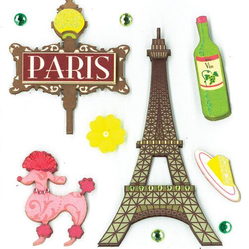 Paris Pleasures Dimensional Sticker _30-577299
