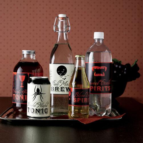 Halloween Assorted Beverage Labels_44-10129