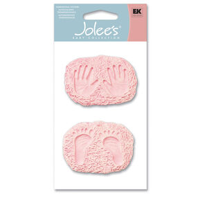 Baby Girl Hand and Footprints Stickers_SPJBB13