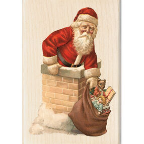 Santa Chimney Wood Stamp _60-00868