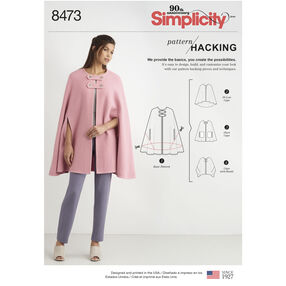 Simplicity Pattern 8473 Misses' Capes with Options for Design Hacking