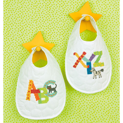 Alphabet Bibs, Stamped Cross Stitch_70-73735
