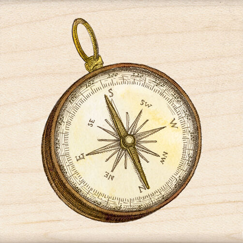 Compass Wood Stamp_60-00980