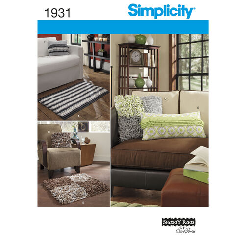 Simplicity Pattern 1931 Home Decorating