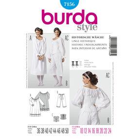 Burda Style Pattern 7156 Historic Undergarments