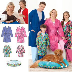 Learn to Sew Child's Teen's & Adults' Robe