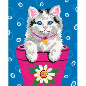 Flower Pot Kitten, Paint by Number_91367