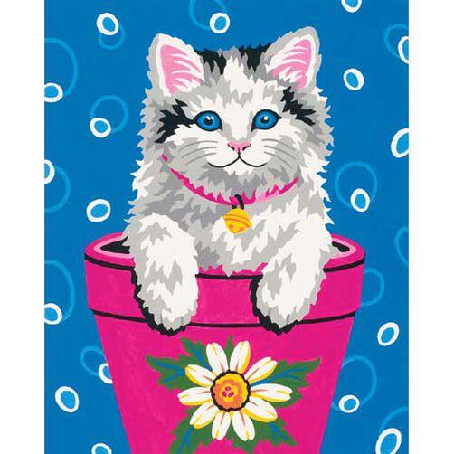 Flower Pot Kitten, Paint by Number_91367