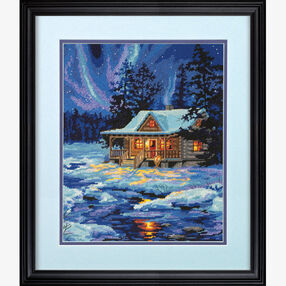Winter Sky Cabin, Needlepoint_71-20072