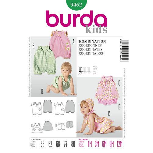 Burda Style Pattern 9462 Kids Coordinates