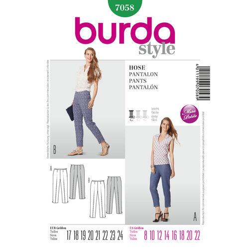Burda Style Pattern 7058 Pants