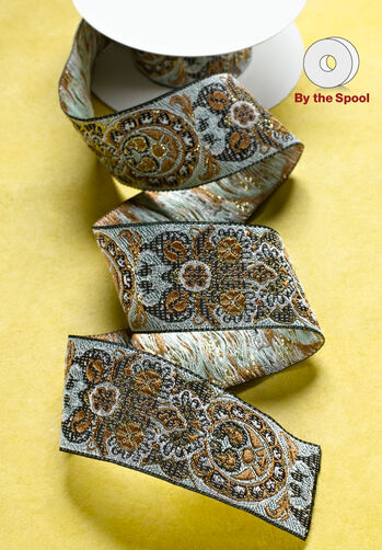 "3 ft. of 1-1/4"" Woven Paisley Band"
