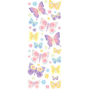 Pretty Butterflies Puffy Stickers_53-90011