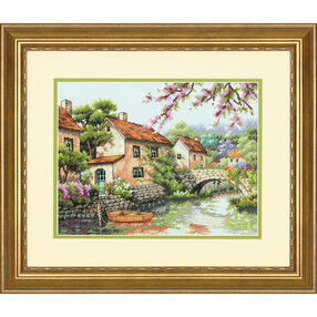 Village Canal, Counted Cross Stitch, 70-35330